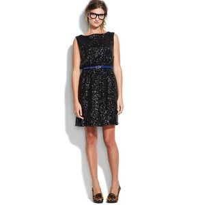Madewell black sequin cocktail dress